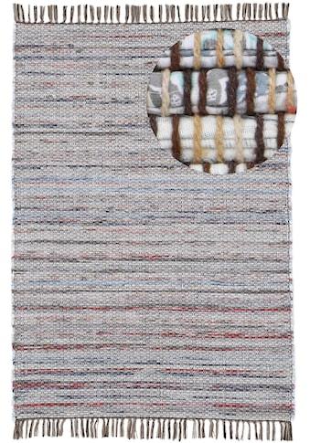 carpetfine Teppich »Kelim Chindi«, rechteckig, 6 mm Höhe, Flachgewebe Wendeteppich mit... kaufen