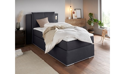 COLLECTION AB Boxspringbett »Freya«, inklusive LED-Beleuchtung und Topper kaufen