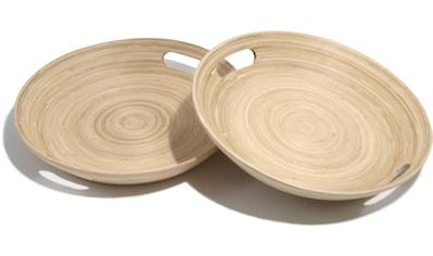Franz Müller Flechtwaren Schale »Bamboo«, antimikrobiell, je Ø 25 cm kaufen