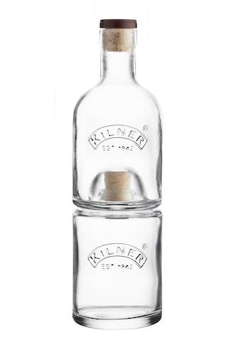 KILNER Einmachglas, (Set, 2 tlg., 1 x 330 ml, 1 x 350 ml), platzsparend stapelbar kaufen