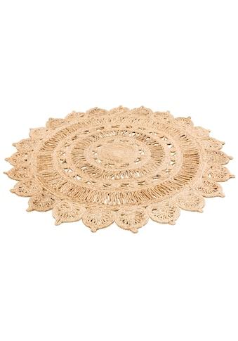 my home Teppich »Amar«, rund, 7 mm Höhe, Naturprodukt aus Jute, Wohnzimmer kaufen