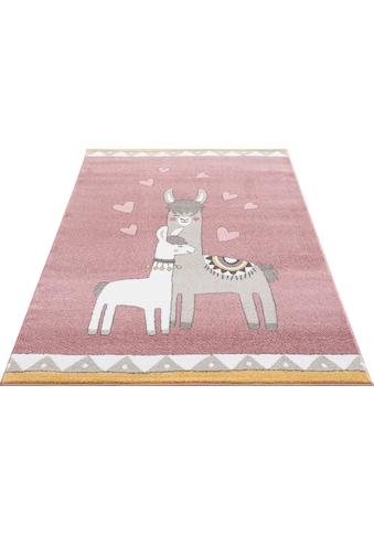 Lüttenhütt Kinderteppich »Lamas«, rechteckig, 14 mm Höhe, weiche Haptik kaufen