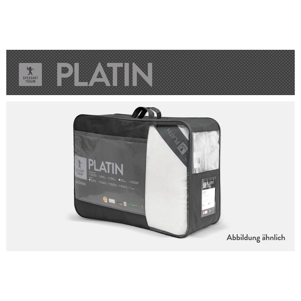 SPESSARTTRAUM Gänsedaunenbettdecke »Platin«, extraleicht, Füllung 100% Gänsedaunen, Bezug 100% Baumwolle, (1 St.), hergestellt in Deutschland, allergikerfreundlich