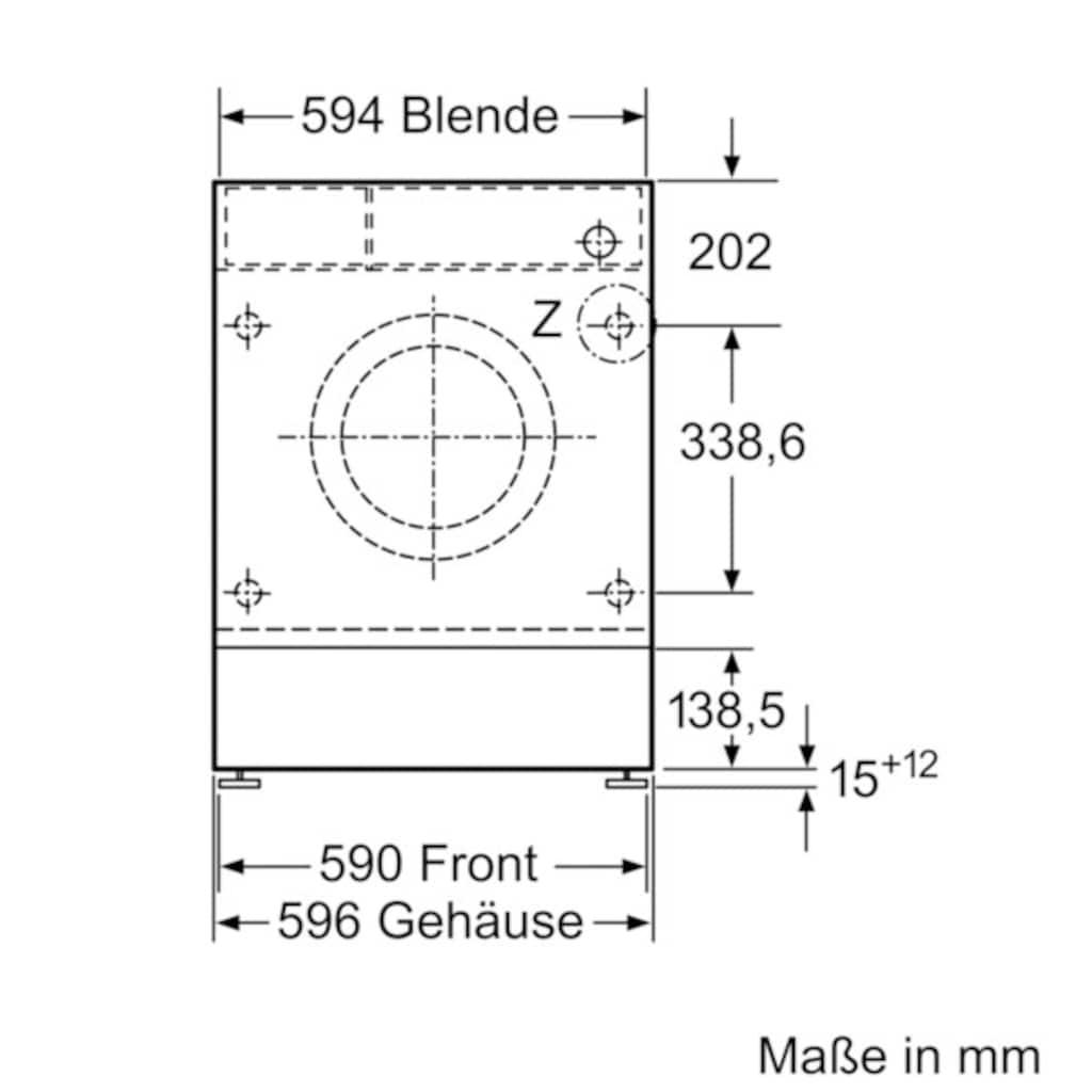 NEFF Einbauwaschmaschine »W6441X0«, W6441X0, 8 kg, 1400 U/min
