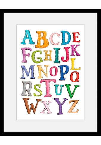 Home affaire Bild »Alphabet«, mit Rahmen kaufen
