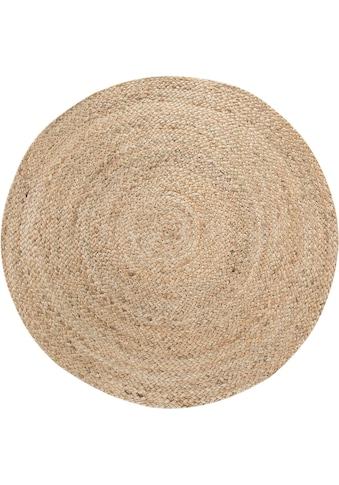 LUXOR living Teppich »Mamda 2«, rund, 4 mm Höhe, Flachgewebe, handgeflochten, Flecht... kaufen