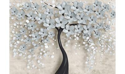 CONSALNET Papiertapete »Baum mit Blütten«, in verschiedenen Größen kaufen