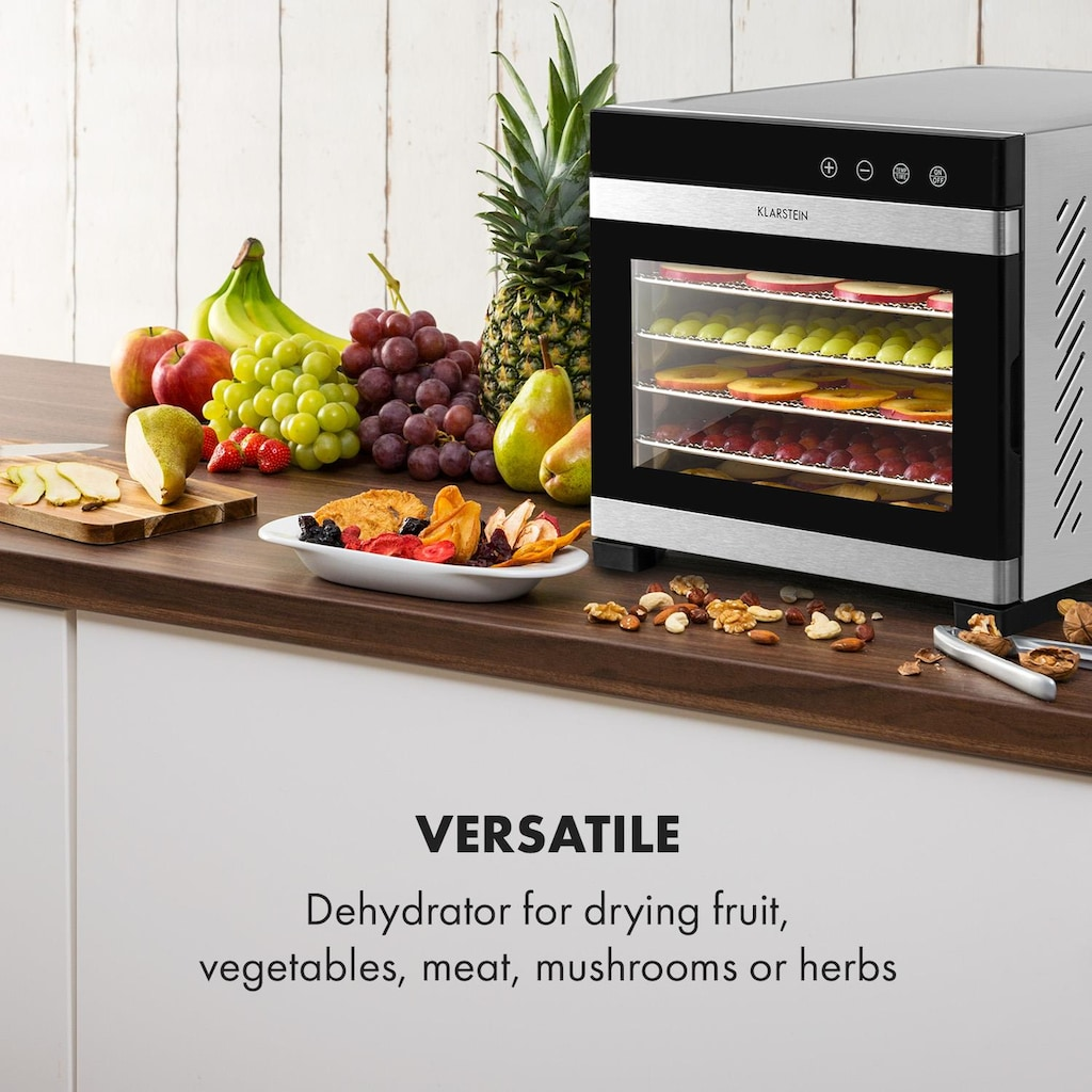 Klarstein Dörrautomat 35-75°C LCD-Touch-Display Time »Flavour Dry«
