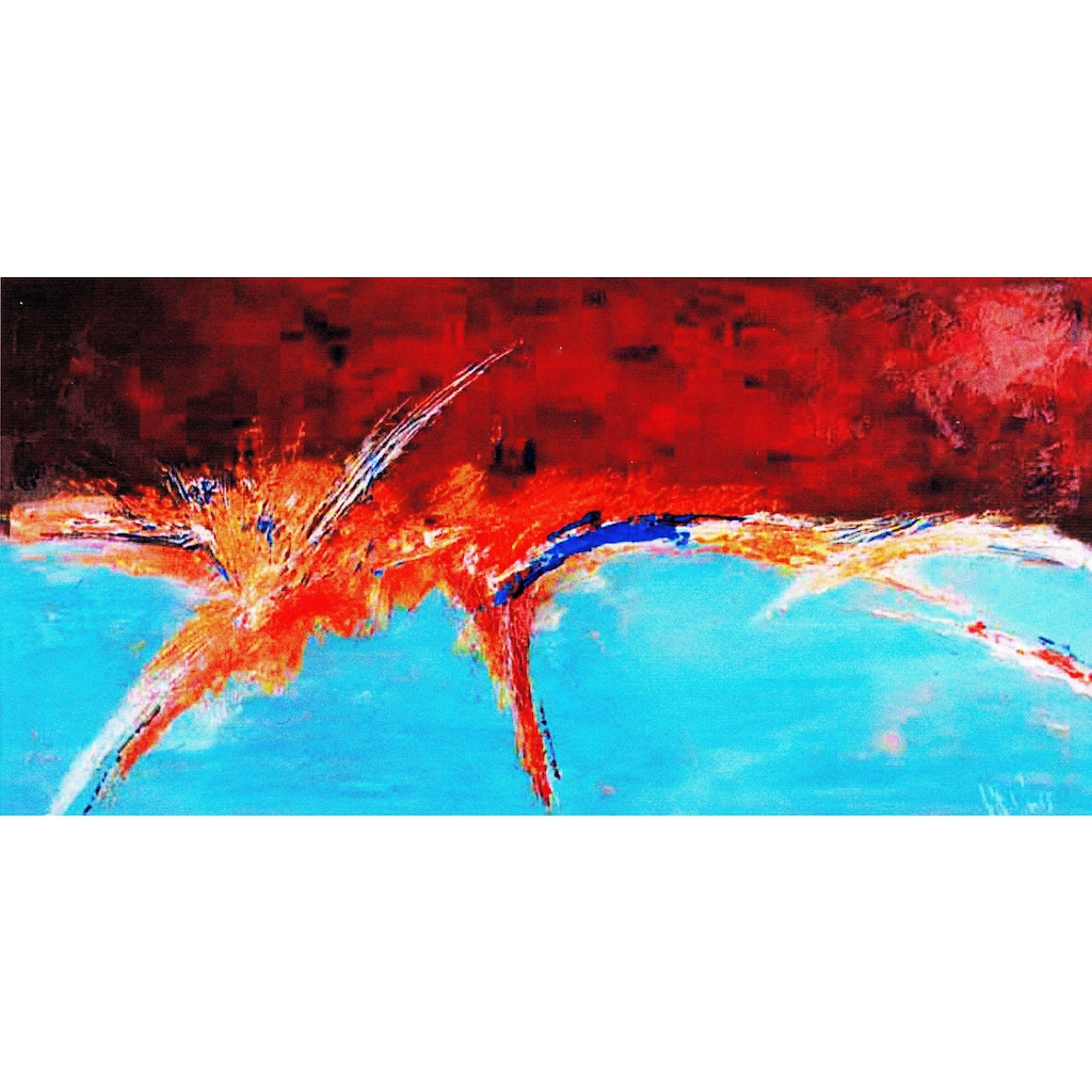 my home Gemälde »Unruhiger Horizont«, (100/3,5/70 cm)
