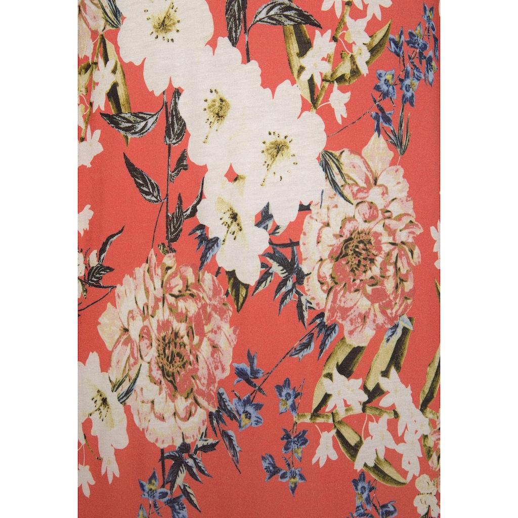 s.Oliver Jerseykleid, mit Blumenprint