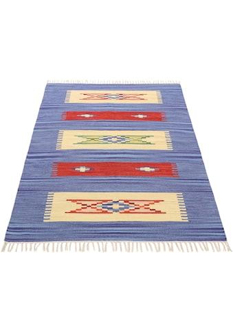 Teppich, »Kelim Tara«, carpetfine, rechteckig, Höhe 5 mm, handgewebt kaufen