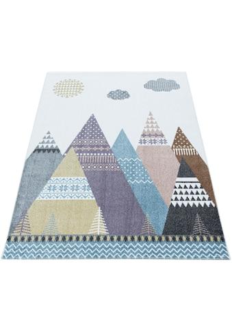 Ayyildiz Kinderteppich »LUCKY 3614«, rechteckig, 11 mm Höhe, Kinder Indianer Motivteppich kaufen