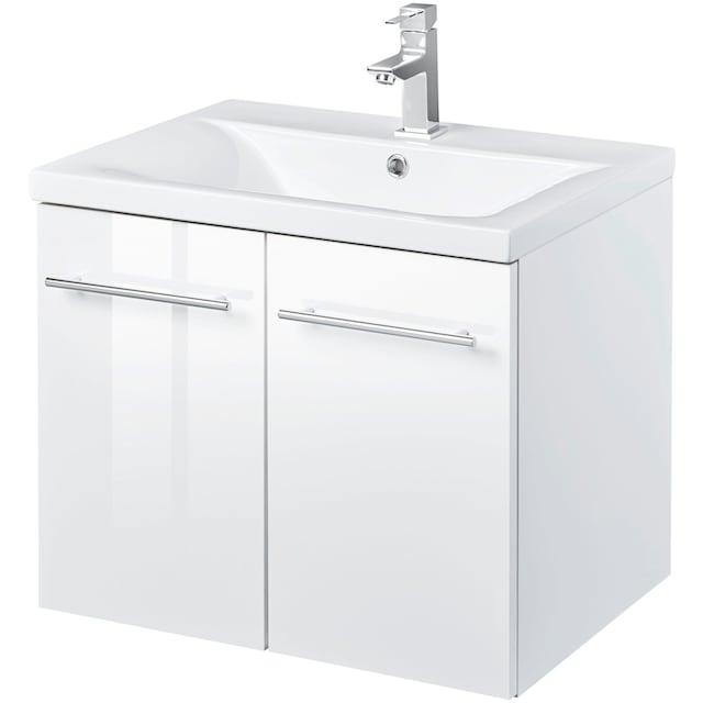 WELLTIME Waschtisch »Baja / Lugo«, Waschplatz, 60 cm breit, Bad-Set 2-tlg.