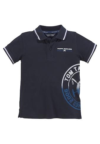 TOM TAILOR Polo Team Poloshirt »mit Streifen an den Bündchen« kaufen