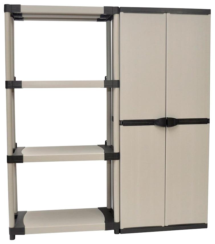 Set: »Kunststoff Steckregal + Universalschrank ´´Armadio´´ « | Baumarkt > Werkzeug > Werkzeugkasten | Grau | Kunststoff | KREHER