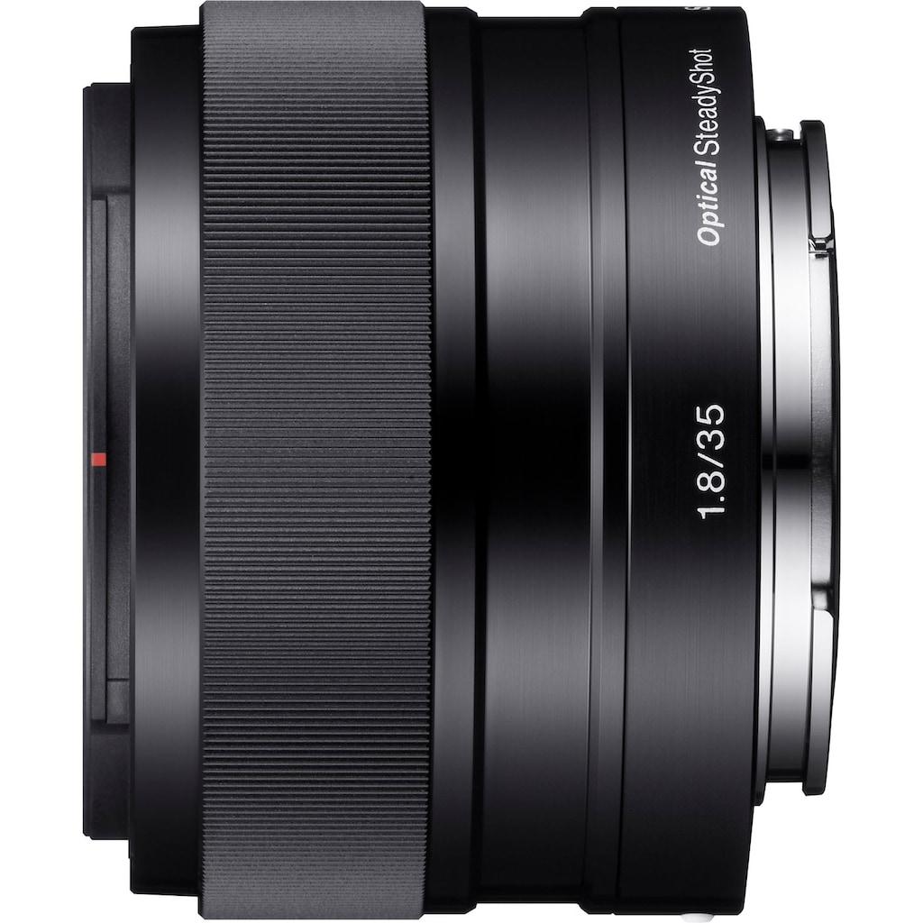 Sony Festbrennweiteobjektiv »SEL-35F18 E-Mount Standard«, E 35mm F1.8, OSS, APS-C