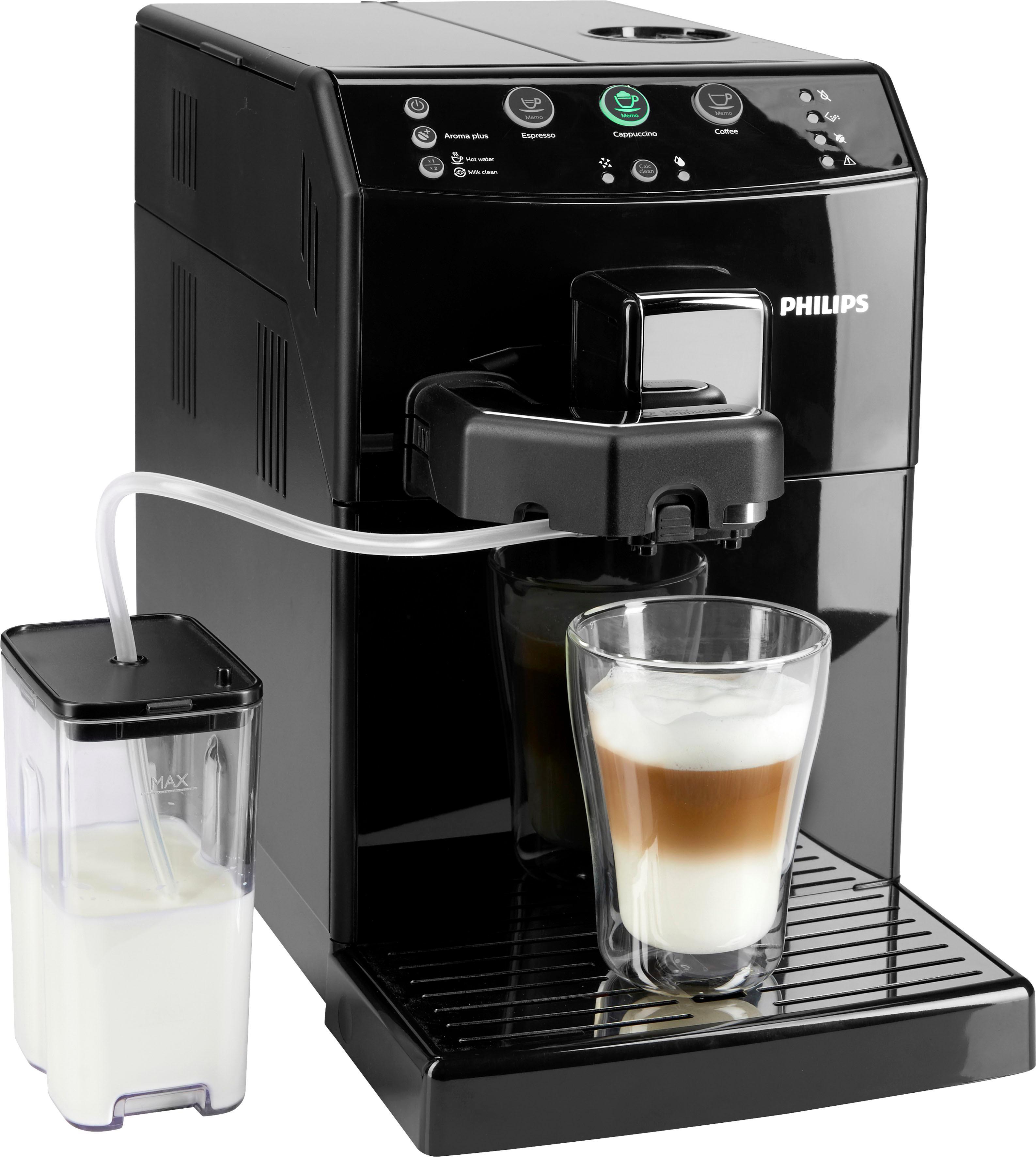 Philips Kaffeevollautomat 3000 Serie HD8830/10, 1,8l Tank, Scheibenmahlwerk | Küche und Esszimmer > Kaffee und Tee > Kaffeevollautomaten | Schwarz | PHILIPS