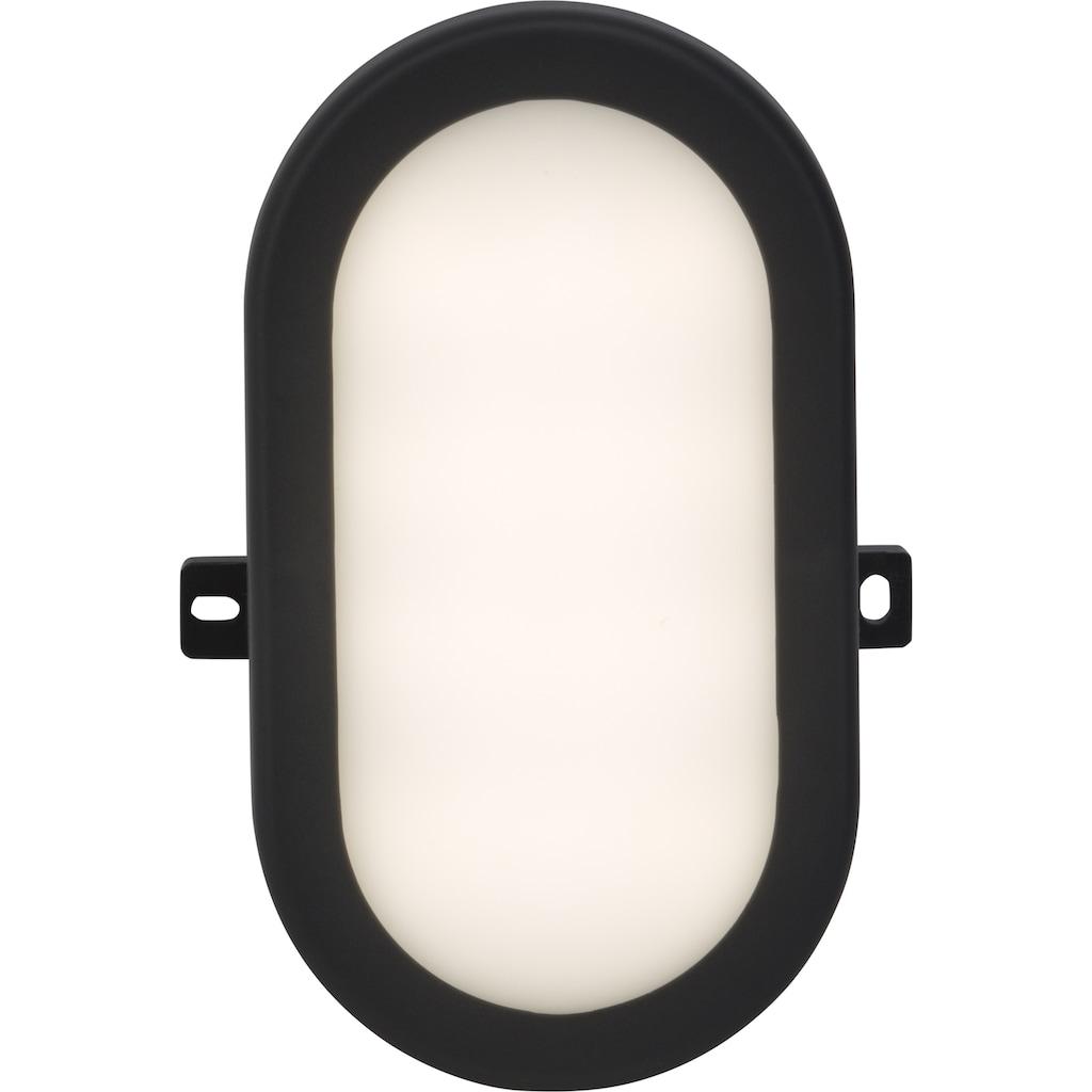 Brilliant Leuchten Tilbury LED Außenwand- und Deckenleuchte 17x12cm anthrazit/weiß