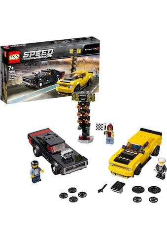 LEGO® Konstruktionsspielsteine »2018 Dodge Challenger SRT Demon und 1970 Dodge Charger R/T (75893), LEGO® Speed Champions«, (478 St.), Made in Europe kaufen
