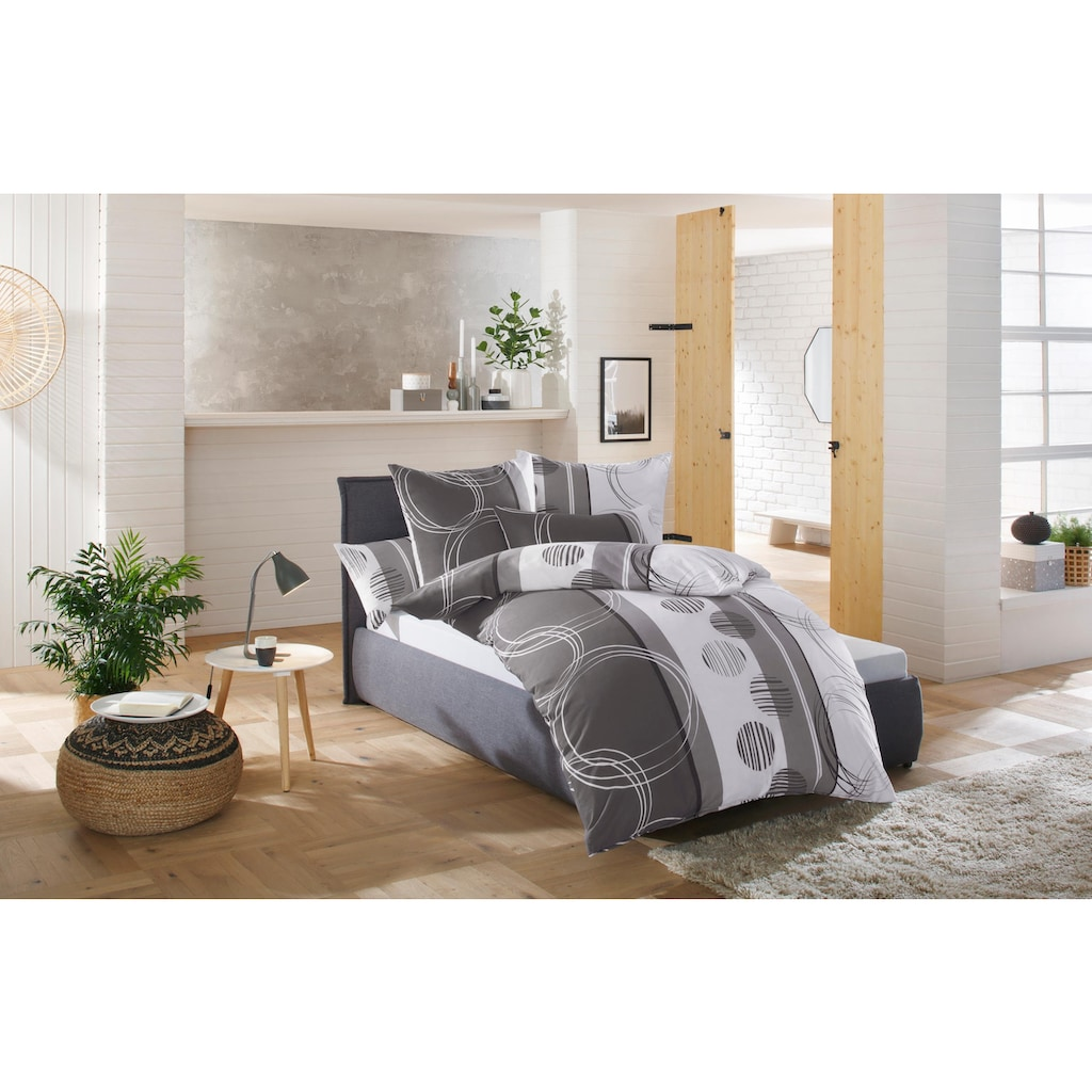 my home Bettwäsche »Swea«, mit Kreisen und Linien