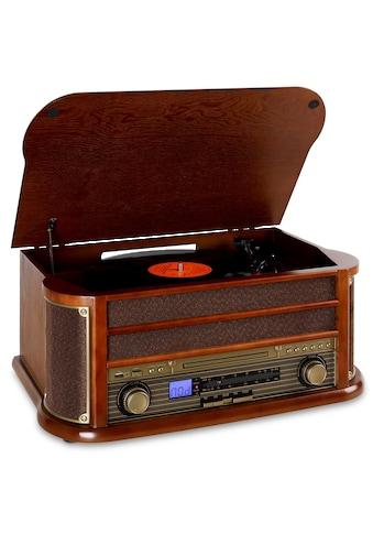 Auna Retro Stereo Kompakt Anlage Plattenspieler Bluetooth USB CD MP3 kaufen