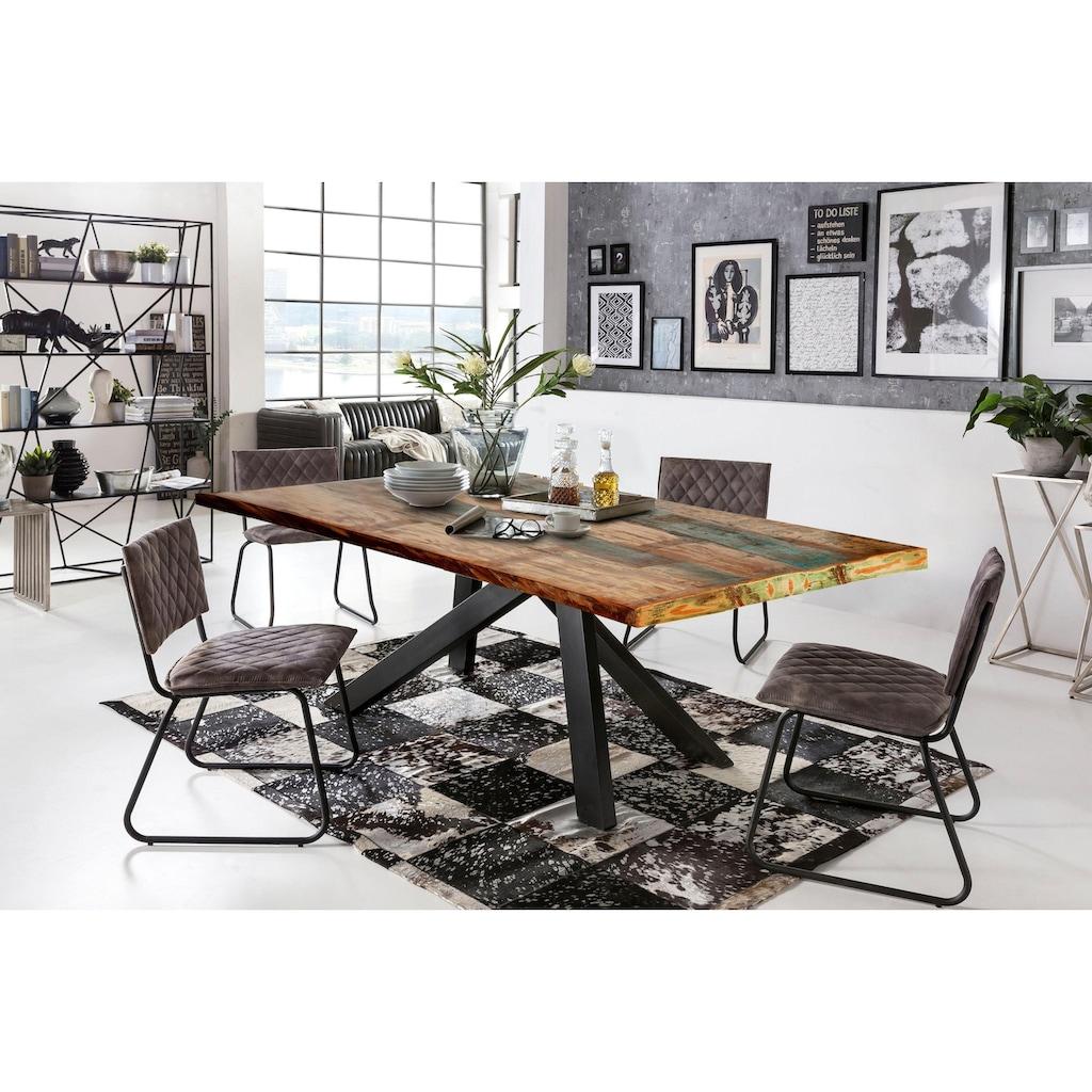 SIT Esstisch »Tops&Tables«, mit bunter Altholzplatte, Shabby Chic, Vintage
