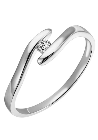Firetti Diamantring »Solitär, elegant, mit Spannfassung, rhodiniert, Glanz, massiv«, mit Brillant kaufen