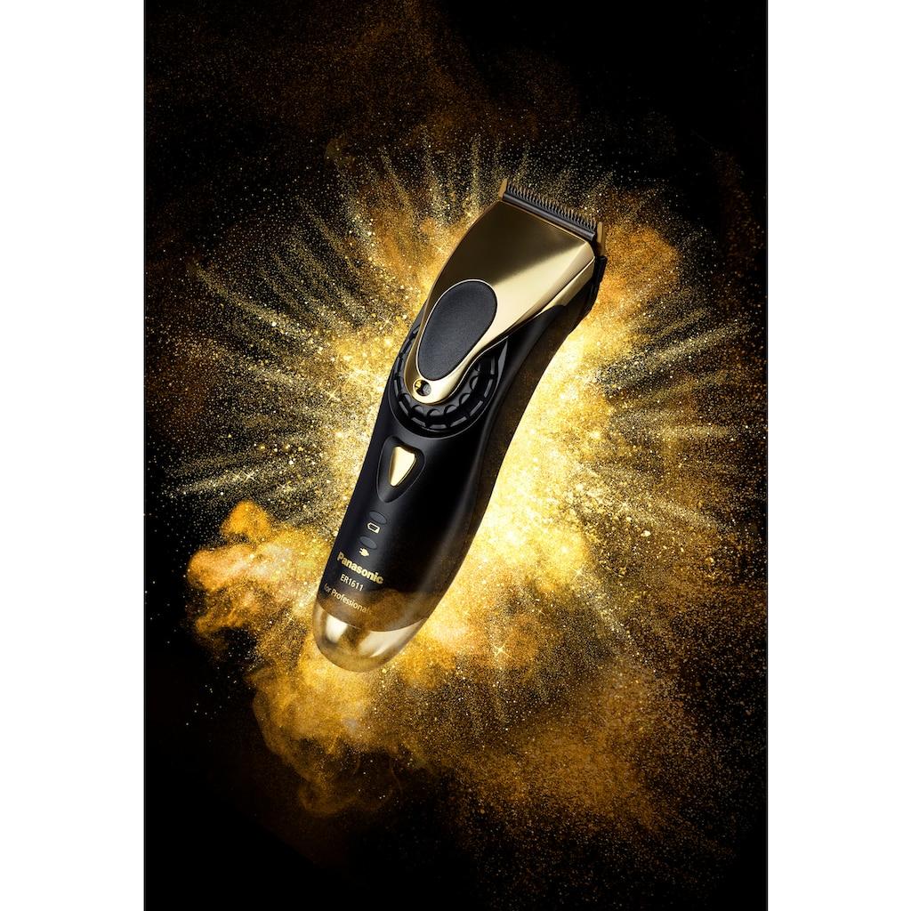 Panasonic Haarschneider »ER-1611 gold«, 3 Aufsätze, Haarschneidemaschine