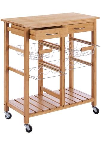 Küchenrollwagen »Bambus«, 72 x 37 x 76 cm kaufen