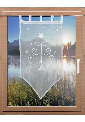 HOSSNER - ART OF HOME DECO Scheibengardine »WEIHNACHTSBAUM«, passend zu allen Einrichtungsstilen kaufen