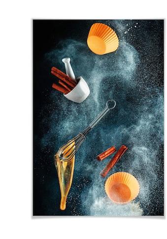 Wall-Art Poster »modern Esszimmer Zimt Küche«, Küche, (1 St.), Poster, Wandbild, Bild,... kaufen