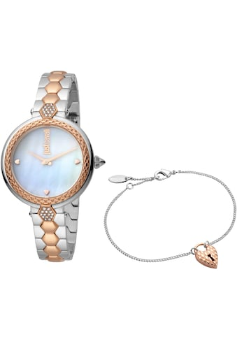 Just Cavalli Time Quarzuhr »creazione per te, JC1L128M0605« (Set, 2 tlg., Uhr mit 1 Schmuckarmband) kaufen