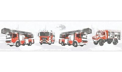 LIVINGWALLS Bordüre »Little Stars mit Feuerwehr Autos«, für das Kinderzimmer, Vlies, PVC - frei kaufen