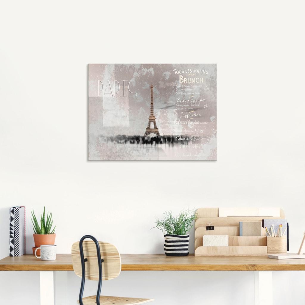 Artland Glasbild »Digitale Kunst Eiffelturm II«, Gebäude, (1 St.)