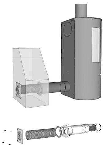 ADURO Ventilator »Frischluftsystem Ø80 mm«, Frischluftsystem für Kaminofen, Ø 80 mm kaufen