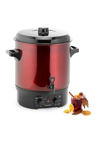 Klarstein Einkochautomat Glühweinkocher 27 Liter mit Zapfhahn Timer 2000W »Biggie« kaufen