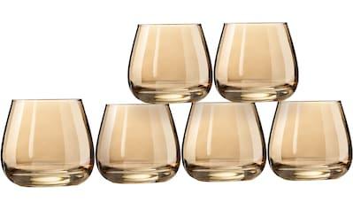 my home Whiskyglas »Naila«, (Set, 6 tlg.), mit hochwertiger, goldfarbener Optik, 300... kaufen