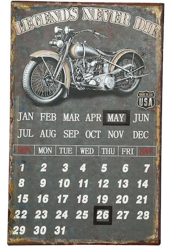 Ambiente Haus Metallschild »Metallbild Kalender - Biker 25x40cm«, (1 St.) kaufen