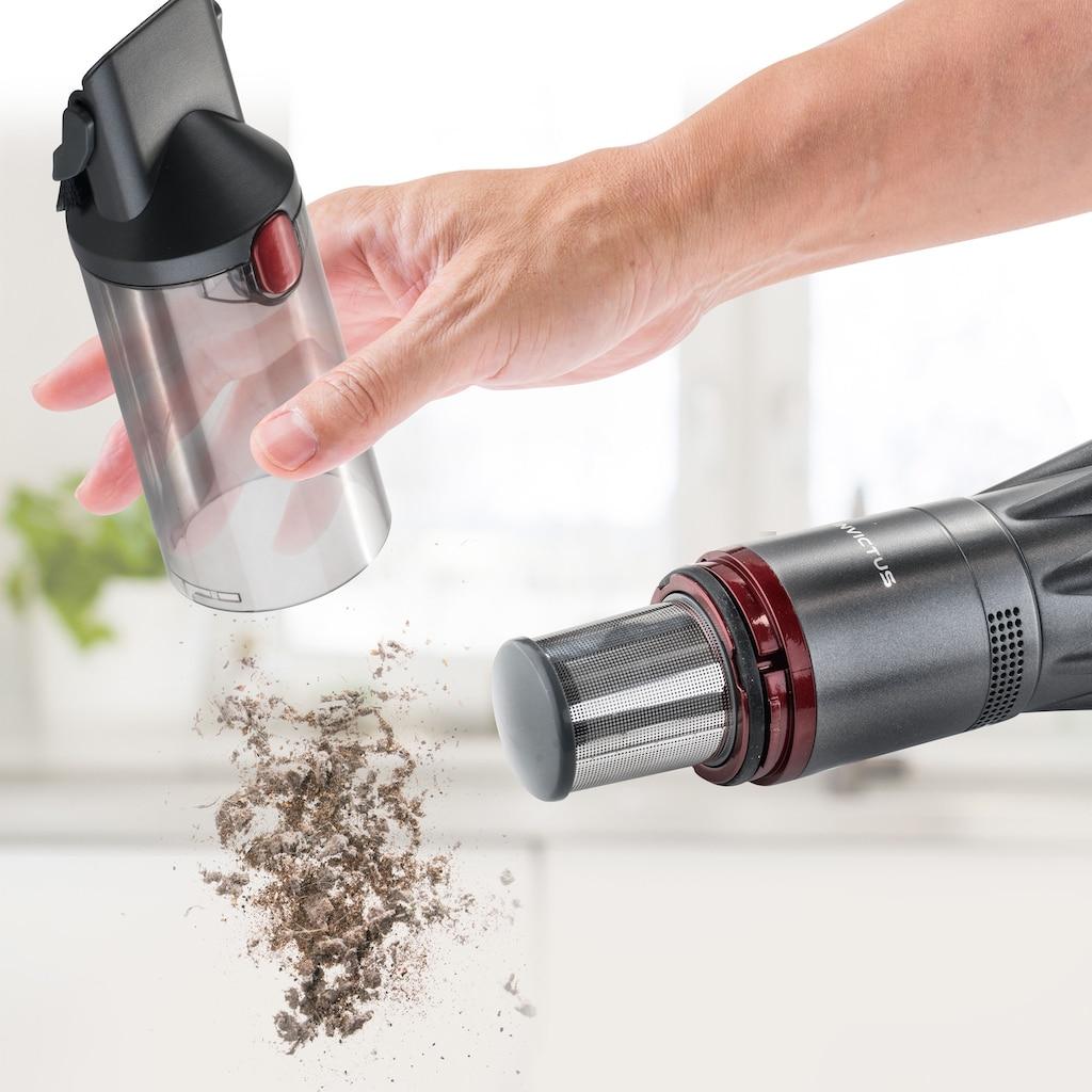 Genius Akku-Handstaubsauger »Invictus One«, Quick-Clean-Funktion, anthrazit mit roten Akzenten