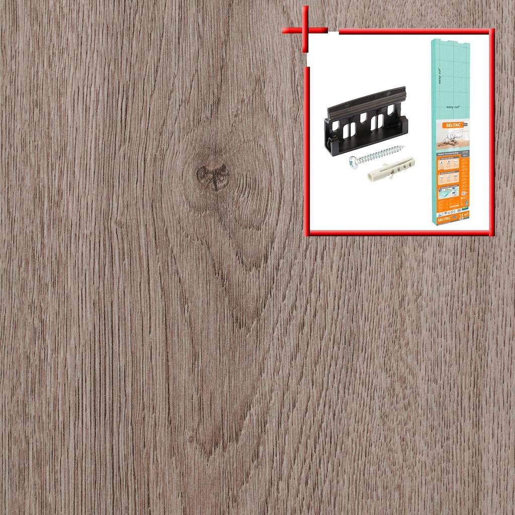 Bodenmeister Laminat »Dielenoptik Eiche grau braun«, Leiste dekorgleich, Stärke: 7mm, ohne Fuge