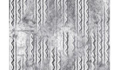 CONSALNET Papiertapete »Geflecht auf Beton/Grau«, in verschiedenen Größen kaufen