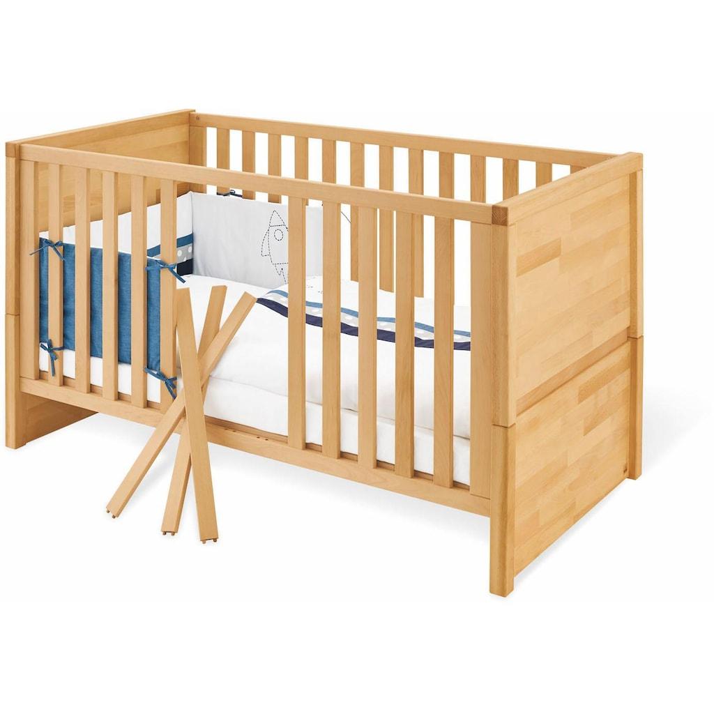 Pinolino® Babyzimmer-Komplettset »Fagus«, (Set, 3 St.), breit; mit Kinderbett, Schrank und Wickelkommode; Made in Europe
