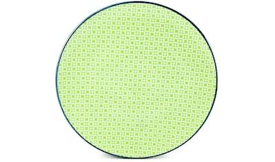 CreaTable Speiseteller »Mediterran«, (Set, 4 St.), Ø 27 cm, Steinzeug, Farbe grün kaufen