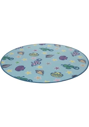 Living Line Kinderteppich »Meereswelt Muschel«, rund, 7 mm Höhe, Velours, Motiv... kaufen