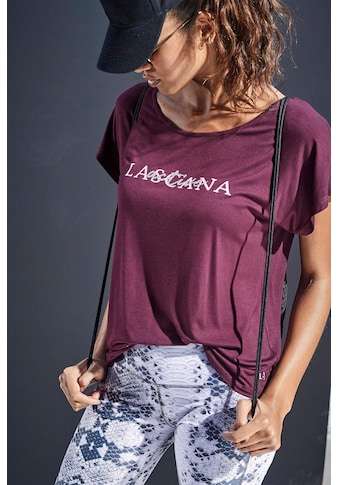 LASCANA ACTIVE T-Shirt »Shiny Snake Skin«, mit Tape am Rückenausschnitt kaufen