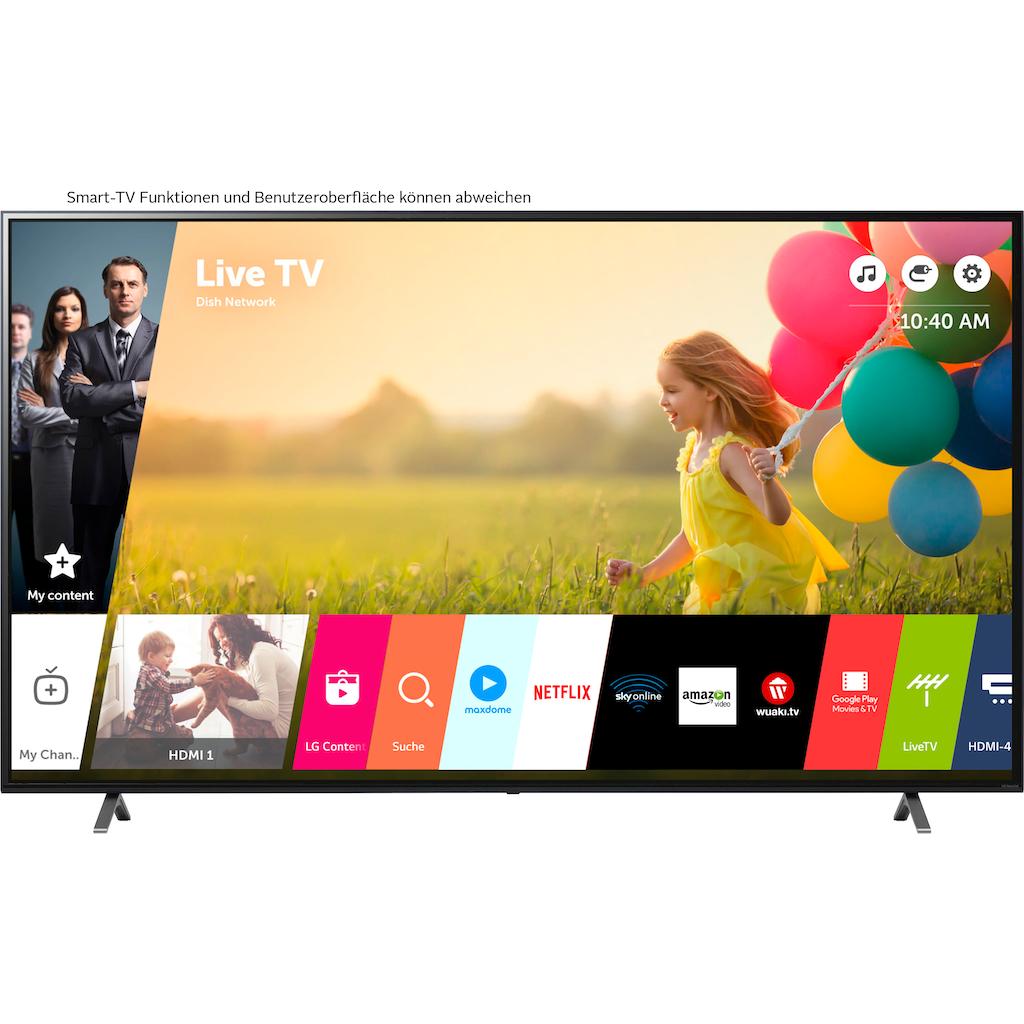 "LG LCD-LED Fernseher »86NANO759PA«, 217 cm/86 "", 4K Ultra HD, Smart-TV, (bis zu 120Hz)-LG Local Contrast-α7 Gen4 4K AI-Prozessor-Sprachassistenten-Dolby Vision IQ™-Dolby Atmos®"