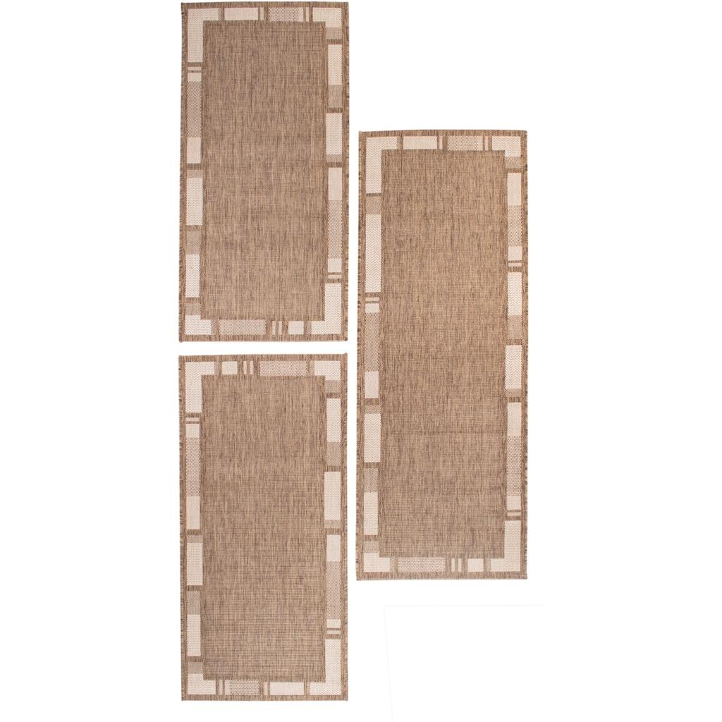 Andiamo Bettumrandung »New Orleans 2«, Bettvorleger, Läufer-Set für das Schlafzimmer, Flachgewebe, gewebt, mit Bordüre, In- und Outdoor geeignet