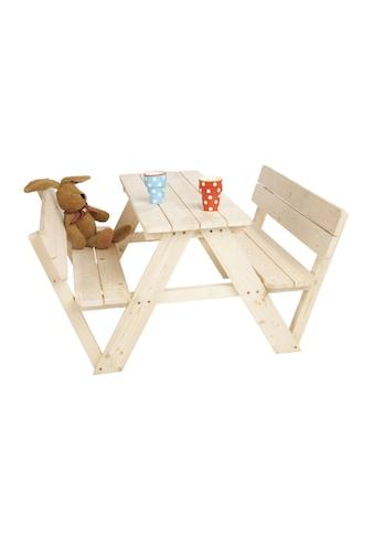 Pinolino® Kindersitzgruppe »Nicki für 4, mit Rückenlehne«, Made in Europe kaufen