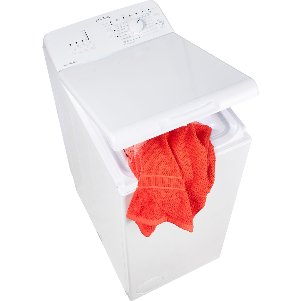 Privileg Waschmaschine Toplader »PWT L50300 DE/N«, PWT L50300 DE/N, 5 kg, 1000 U/min