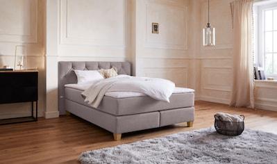 Guido Maria Kretschmer Home&Living Boxspringbett »Harmones«, in 3 Breiten, 3 Matratzenarten, Härtegrad auch im Mix mit je 1 Matratze in H2 und H3, incl. Topper kaufen